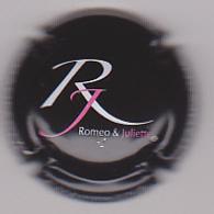 Capsule Champagne ROMEO & JULIETTE ( 1 ; Noir  Blanc Et Rouge ) {S09-20} - Champagne