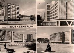 ! DDR Ansichtskarte Cottbus, Hotel Lausitz, Stempel Peitz - Cottbus