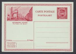 Belgique - EP Képi 1fr Rouge : Antwerpen - Anvers Vue De Kasien-Les Quais (DD) DC7136 - Entiers Postaux