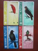 L&Gyr Phonecard,508L Birds,four Cards,mint - Papoea-Nieuw-Guinea