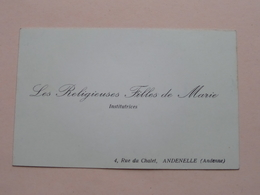 Les RELIGIEUSES FILLES De MARIE Institutrices Rue Du Chalet 4  ANDENELLE (Andenne) > ( Zie Foto's ) ! - Visiting Cards