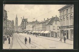 AK Crefeld, Blick In Die Rheinstrasse - Unclassified
