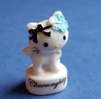 Fèves Fève 2014 Hello Kitty Charmmy Kitty Fleur Bleue *676* - Dibujos Animados