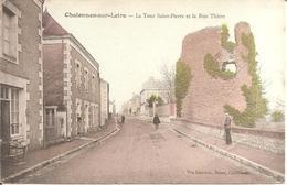 CHALONNES-SUR-LOIRE (49) La Tour Saint-Pierre Et La Rue Thiers - Chalonnes Sur Loire