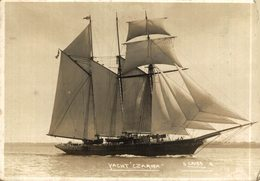 RPPC CARTE PHOTO YACHT CZARINA 12*9 CM CUTT!!!!  BARCO BOAT Voilier - Velero Sailboat Navire A Voile - Voiliers