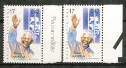 D - [154139]TB//**/Mnh-BELGIQUE 1999 - N° 2867, Nelson Mandela, Bdf Avec Et Sans Inscriptions Marginales, Célébrités, Pr - Unused Stamps