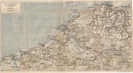 CARTE PLAN AOUT 1918 - NORMANDIE DE HONFLEUR à CABOURG - TROUVILLE DEAUVILLE BÉNERVILLE HOULGATE CABOURG - Cartes Topographiques