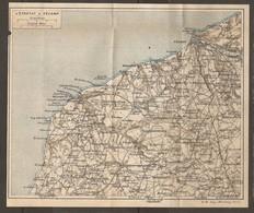 CARTE PLAN AOUT 1918 - NORMANDIE D'ÉTRETAT à FÉCAMP - CAP D'ANTIFER VAUCOTTES YPORT DEAUVILLE - Cartes Topographiques