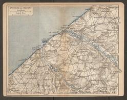 CARTE PLAN 1918 - ENVIRONS Du TRÉPORT - MERS ETALONDE FLOCQUES CRIEL Sur MER AULT BOIS De CISE - Topographical Maps