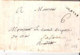 Lettre De GRASSE Pour AIX Réexpédié Au Dos Deb.d'aix Manuscrit Lettre Avec Texte Non Datée - Marcofilie (Brieven)