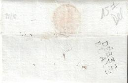 Lettre De LIMOGES Pour BLAYE Réexpédié à BORDEAUX Avec Marque DEB.32 BLAYE Ind.17 = 220 € Lettre De 1814 - Storia Postale
