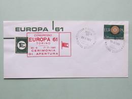 Europeistici, Congresso Europa 61, Annullo Speciale 29-6-1961 Torino - Idee Europee