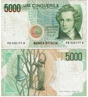 Italie. Billet De 5000 Lires. 1985 - [ 9] Collezioni