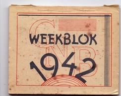 Kalender Calendrier - 1942 - Weekblok - Calendriers