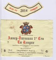 """Etiquette Et Millésime """" AUXEY-DURESSES 1er Cru 2014 """" (3121)_ev596 - Bourgogne"""