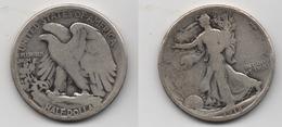 + ETATS UNIS   + 1/2 DOLLAR 1918  + - 1916-1947: Liberty Walking