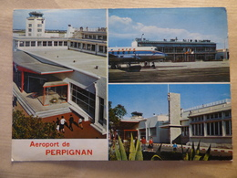 AEROPORT / AIRPORT / FLUGHAFEN     PERPIGNAN  LLABANERE  VISCOUNT AIR INTER - Aerodromes