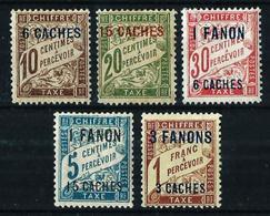 India (Francesa) Nº Tasa-1/7 (falta Nº 2 Y 3) - Unused Stamps