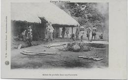 Gaston GIRAUD, Congo Français, Haut Oubangui, N°24 Achats De Produits Dans Une Factorerie. - Congo Français - Autres