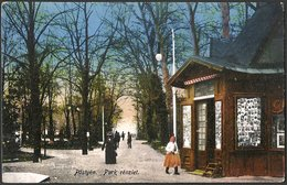Slovakia / Hungary: Pöstyén (Piestany / Pistyan / Püschtin), Park Detail  1915 - Slovakia