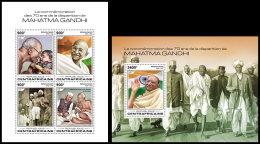 CENTRAL AFRICA 2018 MNH** Mahatma Gandhi M/S+S/S - OFFICIAL ISSUE - DH1832 - Mahatma Gandhi