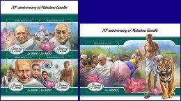 SIERRA LEONE 2018 MNH** Mahatma Gandhi M/S+S/S - OFFICIAL ISSUE - DH1808 - Mahatma Gandhi