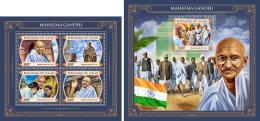 CHAD 2017 MNH** Mahatma Gandhi M/S+S/S - OFFICIAL ISSUE - DH1749 - Mahatma Gandhi