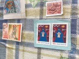 AUSTRALIA NATALE 2 VALORI - Francobolli