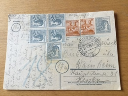 K8 Alliierte Besetzung Ganzsache Stationery Entier Postal P 962 Von Gunzenhausen 10-fach - Zone AAS