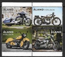 Aland 2018 N° 456/459 Neufs Motos - Ålandinseln
