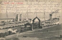 Sassnitz Trajekthafen Schiffe Schifffahrt Hafen Partie Insel Rügen 1920 - Sassnitz