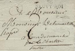 1819- Lettre De NEUVY-ROI ( Indre Et Loire ) 38 X 11 Mm Noir Taxe 2 D - Storia Postale