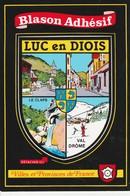 CPSM  26 LUC EN DIOIS  BLASON ADHESIF - Luc-en-Diois