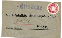 PREUSSEN XX004 /  Dienstbrief An Eisenbahndirektion, Polizei Kassel - Pruisen