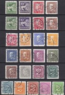 SE100 – SUEDE – SWEDEN – 1934/36 – CURRENT FULL SET – Without WM - MI # 175IIW/207IIW - USED 39 € - Used Stamps