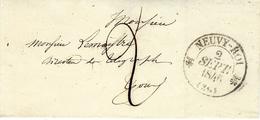 1841- Enveloppe De NEUVY-ROI ( Indre Et Loire ) Cad T12 Taxe 2 D Pour Tours - Storia Postale