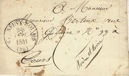 1841- Lettre De NEUVY-ROI ( Indre Et Loire ) Cad T12 Taxe 2 D Pour Tours - Storia Postale