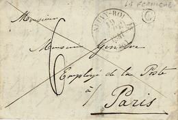 1841- Lettre De NEUVY-ROI ( Indre Et Loire ) Cad T12 Taxe 6 D Pour Paris  + C Boite Rurale De LA FERMIERE - Storia Postale