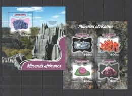 SS841 2014 GUINE GUINEA-BISSAU GEOLOGY AFRICAN MINERALS MINERAIS AFRICANOS KB+BL MNH - Minerali