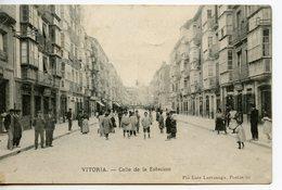 2010. CPA ESPAGNE VITORIA. CALLE DE LA ESTACION 1909 - Álava (Vitoria)