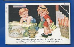 ILLUSTRATEUR GOUGEON -  Garçon Boulanger Fillette   Série:  P.C - Gougeon
