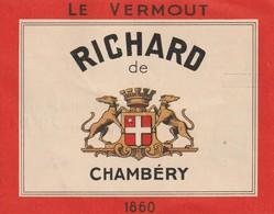 """Le VERMOUT RICHARD De Chambéry Avec Recettes Au """"Richard"""". (TTB) - Publicités"""