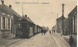 Anvers-wilmarsdonck -boulevard -tram A Vapeur -top Carte- Rare - Antwerpen