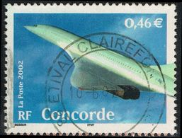 """FRANCE : N° 3471 Oblitéré """"TàD Rond"""" (Le Siècle Au Fil Du Timbre : Concorde (bord De Bloc) - PRIX FIXE - - Usados"""