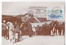 Carte Postale MIMIZAN PLAGE Traversée De L' Atlantique Nord - Mimizan Plage