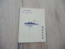Carte De Vœux Aviso Marne Marine En Indochine Illustrée Année 30 - Bateaux
