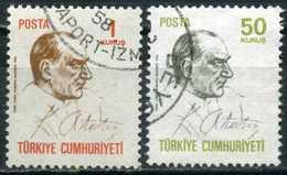 Turkey 1970 - Mi. 2163-64 O, Definitive Postage Stamps, Atatürk - 1921-... République