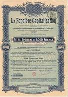 La Foncière-Capitalisation - Titre Epargne De 1000 Francs + Feuille Avec Timbres-Quittances - Actions & Titres