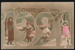 BONHEUR POUR 1921    DAME EN KINDEREN - Nouvel An