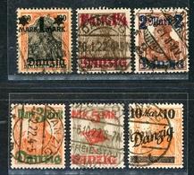 Danzig MiNr. 41-46 I Gestempelt Geprüft Infla U. A. (MA1010 - Dantzig